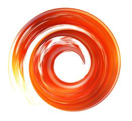 spiral brush stroke