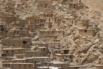 Houses of Kurdish village Palangan, Iran