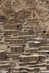 Houses of Kurdish village Palangan in Iran