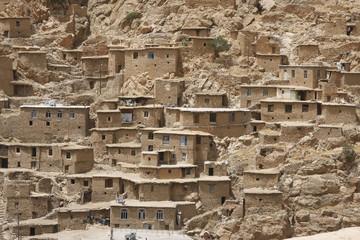 View of Palangan, ancient Kurdish village in Iran