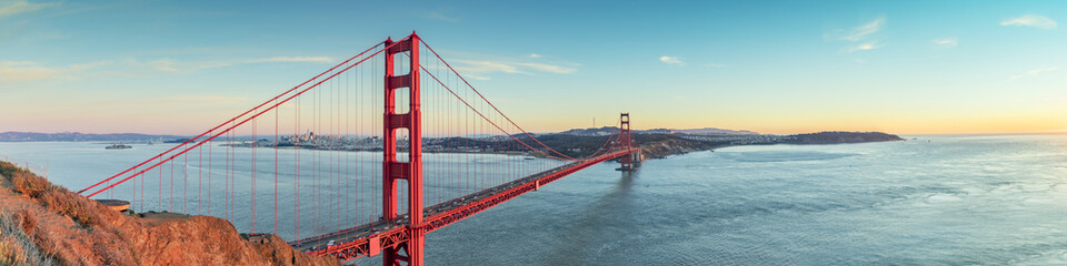 Golden Gate bridge sunset, San Francisco California