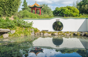 The Chinese Scholars' garden at Hamilton Gardens an iconic garden of Hamilton, New Zealand.