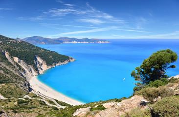 Plaża Myrtos - wyspa Kefalonia, Grecja