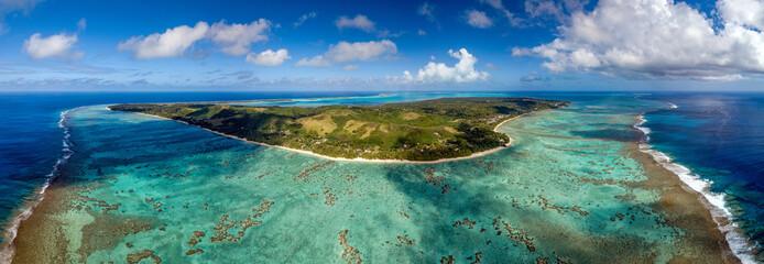 Polynesia Cook Island aitutaki lagoon tropical paradise aerial view
