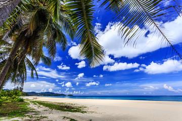 Karon Beach at sunny morning. Phuket, Thailand