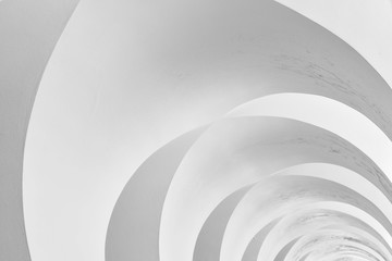 art and design of architecture ceiling - modern curve pattern