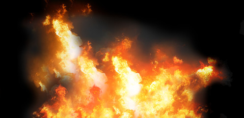 fire flames smoke background 3d-illustration