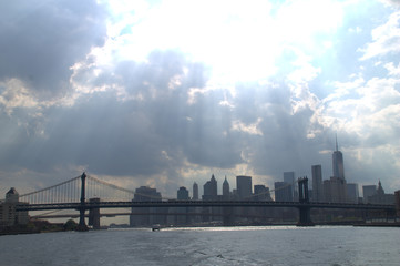 new york city skyline from river