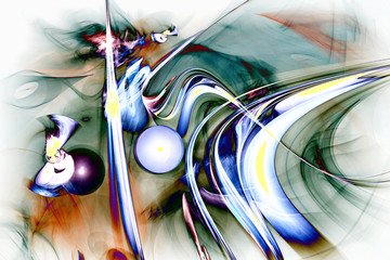 Fractal image: bizarre abstract drawing.