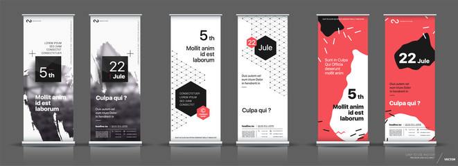 Set of templates with a design of vertical banners.
