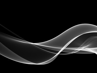 Abstract Black And White Wave Design