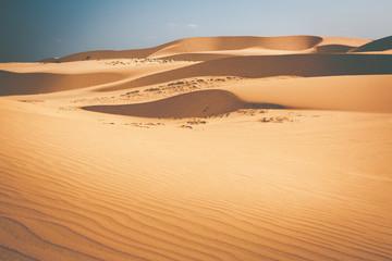 Biała pustynna wydma w Mui Ne