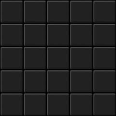 Black Tiles Seamless Texture. Abstract Vector Background