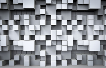 Abstract Cubes Background. 3D Render