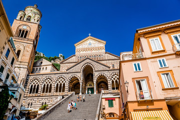 Cathedral of St Andrea in Amalfi. Italy