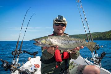 Big lake trout from Vattern lake