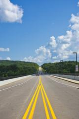 Route 66 - American Tourism - American Road Trip - Rural American Highway in Summer