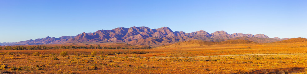 Large panorama of Flinders Ranges in South Australia