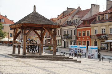 The historic center of the city of Sandomierz in Poland.