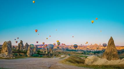 Kapadokya sunrise with hot air balloons