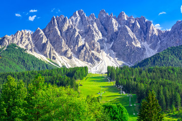 Dolomites in San Candido in summer
