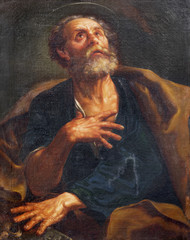 PARMA, ITALY - APRIL 17, 2018: The painting of St. Peter the Apostle church Chiesa di San Uldarico by unknown artist.