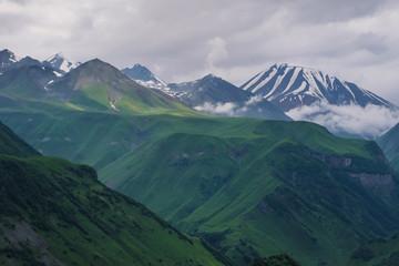 Caucasian Mountain ranges and valleys at Gudauri, Georgia