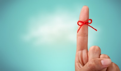Rope bow on finger pointing