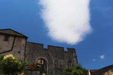 white cloud in the sky