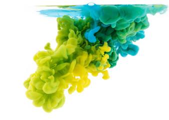 Abstrakcjonistyczny akrylowy farba kolor wiruje w wodzie, tekstury tło.