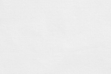 Biała bawełniana tkanina tekstura tło, wzór naturalnego materiału.