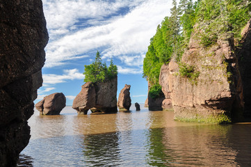 Hopewell Rocks at high tide, Canada