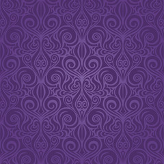 Violet purple vintage seamless pattern Floral background ornate wallpaper design