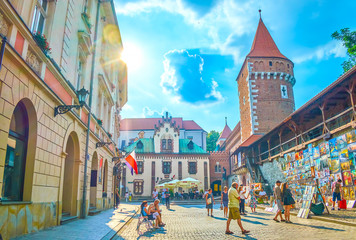 The art market in Krakow, Poland