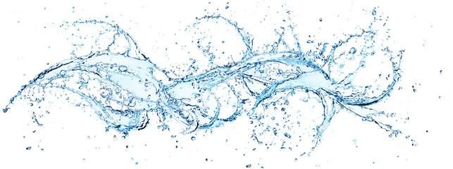 Plusk wody w wirowanie poziome