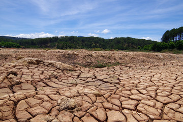 the impact of climate change, made dry land, water shortages