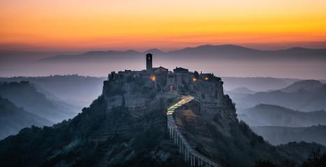 Civita di Bagnoregio, beautiful old town in Italy.