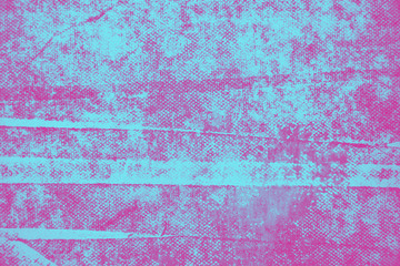 Pink and blue hand painted background texture with grunge brush strokes