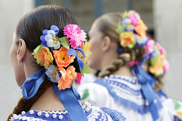 Detail of one of the folk costume of Altai Republic, Russia