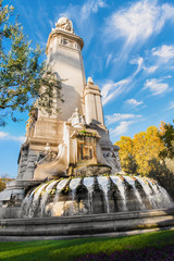 Madrid city monuments, Madrid, Spain, Europe november