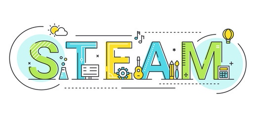 Steam Education Approach Concept Vector Illustration