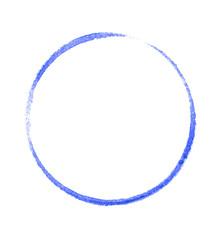 Niebieskie koło malowane na białym tle