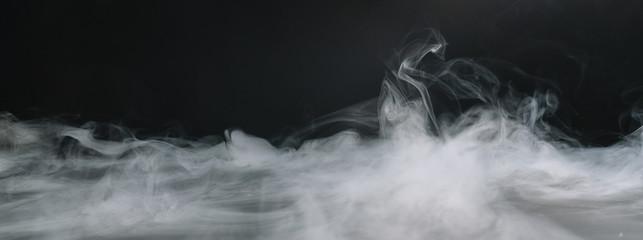 Realistyczna nakładka chmur dymu z suchego lodu. miejsce na Twój indywidualny tekst.
