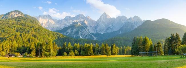 Mountain landscape next to Kranjska Gora in Slovenia