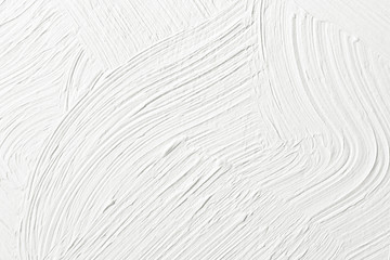 Textured white plaster on the wall. Background image, texture.