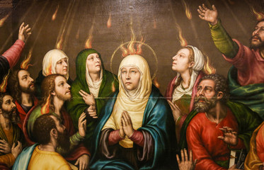 Mary and the Apostles at Pentecost