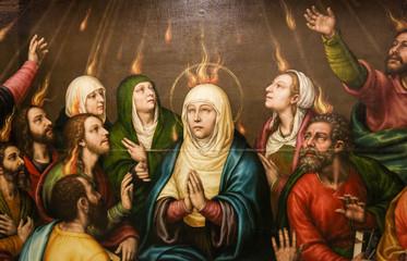 Maryja i apostołowie w dniu Pięćdziesiątnicy