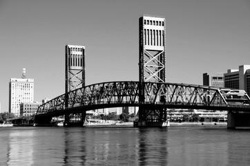 Famous bridge at Jacksonville, Florida