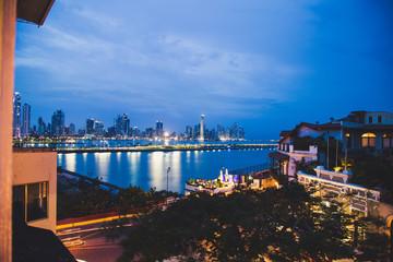 Ville de nuit Panama City Amérique centrale Buildings Bâtiments Nuit