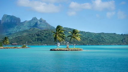 Bora Bora, French Polynesia - Tiki Guarding The Pearl of Pacific